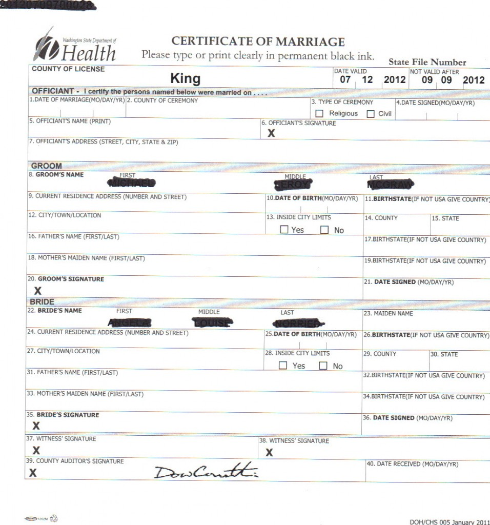 Marriage License Archives Seattle Wedding Officiants