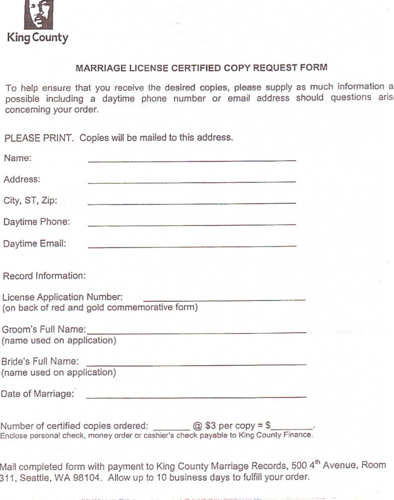 Certified copy form