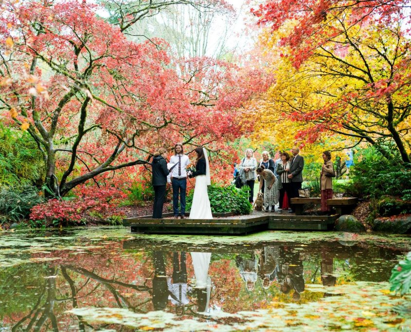 Elope Seattle, Elope with Seattle Wedding Officiants, Seattle Wedding Officiants, Seattle Elope, Wedding Officiant, Wedding Minister, Last Minute Wedding, Washington Park Arboretum wedding